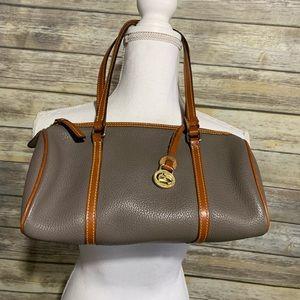 Dooney & Bourke barrel bag gray leather